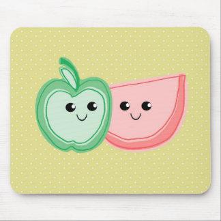 Niedliche Apple- u. Wassermelone-Freunde Mousepad