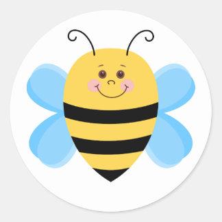 Niedliche Baby-Biene Runder Aufkleber