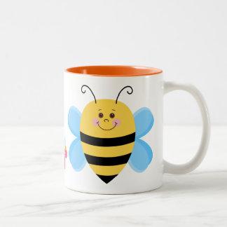 Niedliche Baby-Biene Zweifarbige Tasse