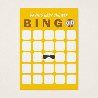 Niedliche Baby-Duschen-Bingo-Karte der Visitenkarte