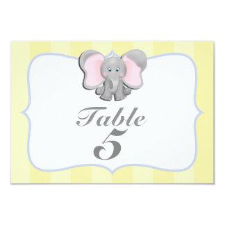 Niedliche Baby-Elefant-Party-Tischnummer-Karte #2 8,9 X 12,7 Cm Einladungskarte