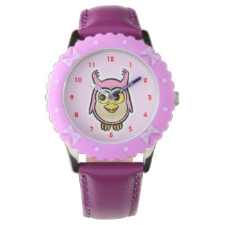 Niedliche Baby-Eule Armbanduhr