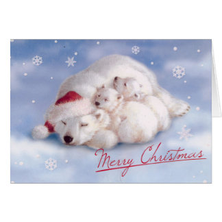 Niedliche Bärn-frohe Weihnacht-Karte Karte