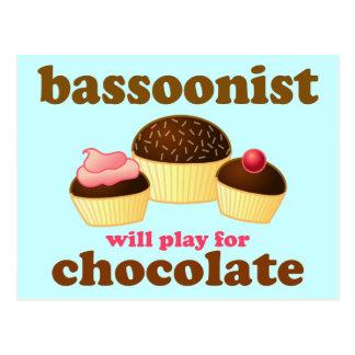 Niedliche Bassoon-Postkarte Postkarte