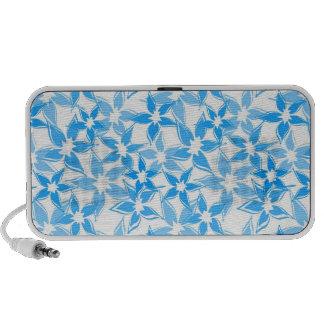 Niedliche blaue Blumengekritzel-Lautsprecher Mp3 Speaker