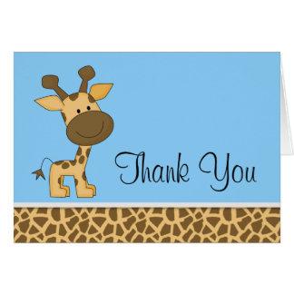 Niedliche blaue Giraffe danken Ihnen Mitteilungskarte