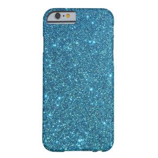 Niedliche blaue Glitter-Glitzern Barely There iPhone 6 Hülle