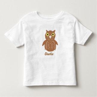 Niedliche Brown-Eule und Name, Kleinkindt-shirts Kleinkind T-shirt