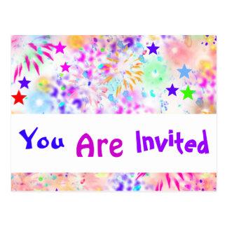 niedliche Budget-Party Einladung, Wiedersehen, Postkarte
