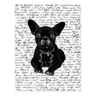 Niedliche Bulldogge Postkarte