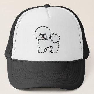 Niedliche Cartoon Bichon Frise Hundeillustration Truckerkappe