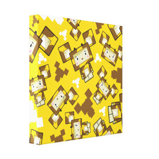 Niedliche Cartoon Blockimals Giraffen-Leinwand Leinwanddruck