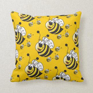 Niedliche Cartoon-Gelb-Honig-Bienen Kissen