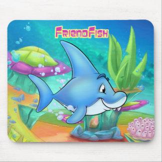 Niedliche Cartoonhaifisch-Mausunterlage Mousepad