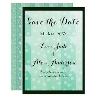 Niedliche Chic-Minzen-Polka-Punkt-Save the Date 12,7 X 17,8 Cm Einladungskarte
