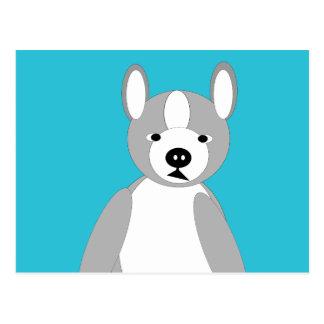 Niedliche cuddly und liebenswürdige Boston-Terrier Postkarte