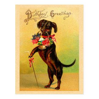 Niedliche Dackel-Geburtstags-Postkarte Postkarte