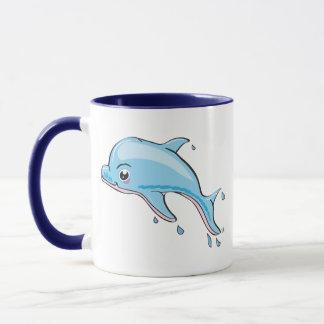 Niedliche Delphin Kawaii Tasse