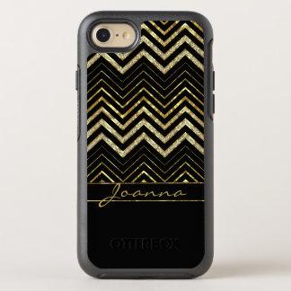 Niedliche Diamanten und Gold Zickzack OtterBox Symmetry iPhone 8/7 Hülle