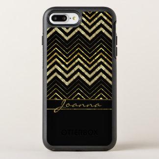 Niedliche Diamanten und Gold Zickzack OtterBox Symmetry iPhone 8 Plus/7 Plus Hülle