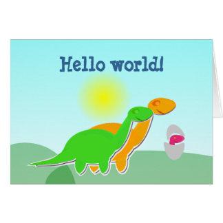 Niedliche Dino-Paare u. Baby-Ei-hallo Karte