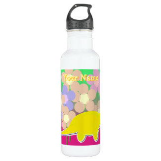 Niedliche Dinosaurier-Blumen-Flasche Trinkflasche