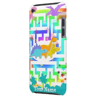 Niedliche Dinosaurier im Farblabyrinthipod-Touch-F iPod Case-Mate Case