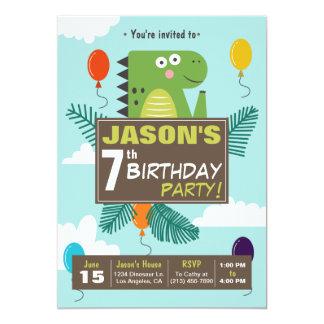 Niedliche Dinosaurier-Kindergeburtstag-Party 12,7 X 17,8 Cm Einladungskarte