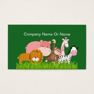 Niedliche Dschungel-Tiere Visitenkarte