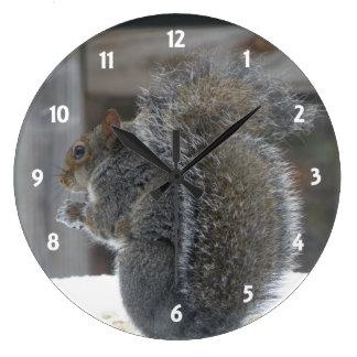 Niedliche Eichhörnchen-Uhr Große Wanduhr