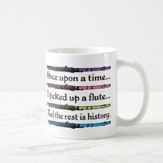 Niedliche einst Flöte Kaffeetasse