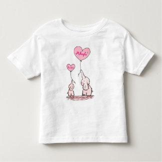 Niedliche Elefant-Baby-Griff-Ballone Kleinkind T-shirt