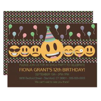 Niedliche Emoji Geburtstags-Party Einladung