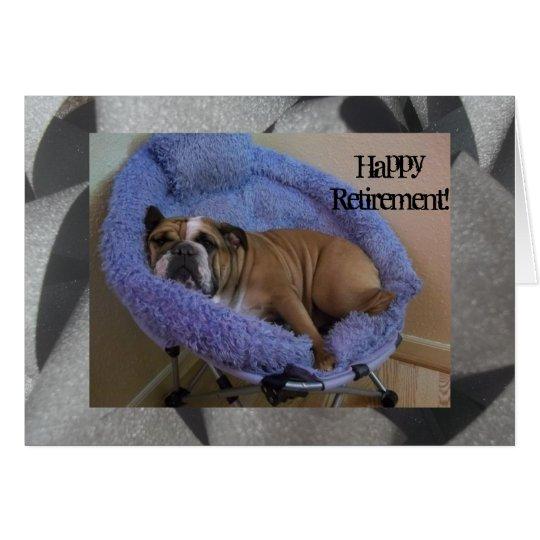 Niedliche englische Bulldoggen-glückliche Grußkarte