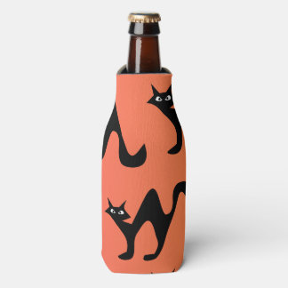 Niedliche erschrockene Katzen Flaschenkühler