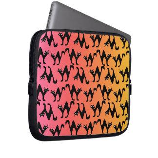 Niedliche erschrockene Katzen Laptop Sleeve