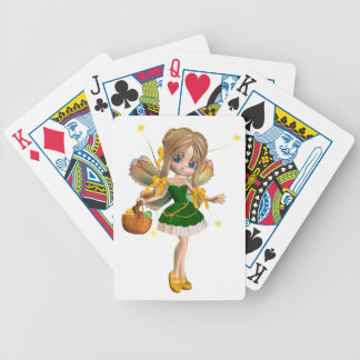 Niedliche Fee Toon Ostern - 1 Poker Karten