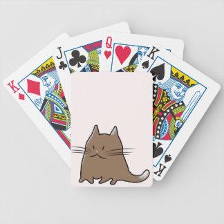 Niedliche fette Kitty-Katze Poker Karten