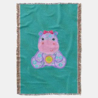 Niedliche Flusspferdthrow-Decke Decke