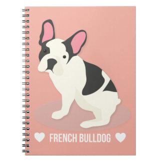 Niedliche französische Bulldogge Spiral Notizblock