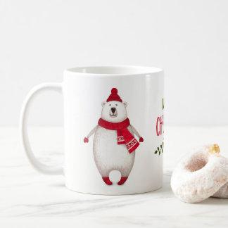 Niedliche frohe Weihnacht-polarer Kaffeetasse