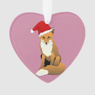 niedliche Fuchsweihnachtsherzverzierung Ornament