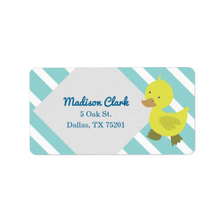 Niedliche gelbe Baby-Enten-kundengerechte Adressaufkleber