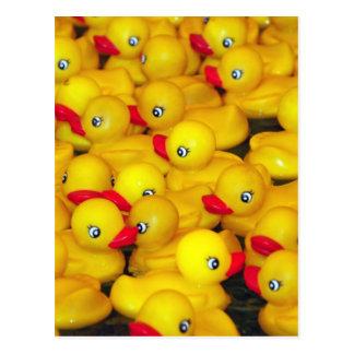 Niedliche gelbe Gummiduckies Postkarte