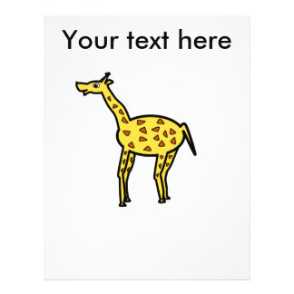 Niedliche Giraffe 21,6 X 27,9 Cm Flyer