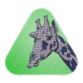 Niedliche Giraffe mit blauer patterend Haut Bluetooth Lautsprecher