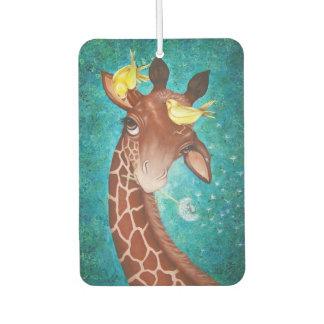 Niedliche Giraffe mit Vögeln Lufterfrischer