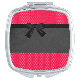 Niedliche Girly elegante rote Polka-Punkte - Taschenspiegel