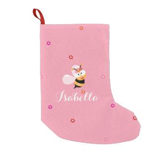 Niedliche Girly rosa Kleiner Weihnachtsstrumpf