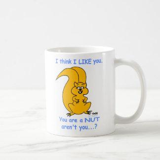 Niedliche glückliche freundliche kaffeetasse